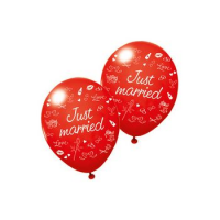 """SUSY CARD ballonnen """"Just married"""", rood 4050498235565"""