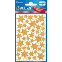 "AVERY Zweckform ZDesign Kerstmis Sticker ""Star"", goud 4004182522257"