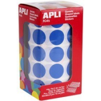 "Agipa apli Kids stickers Creative ""round"" on roll, blauw 8410782048602"