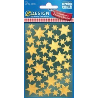 "AVERY Zweckform ZDesign Kerstmis Sticker ""Star"", goud 4004182528068"