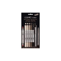 COPIC Marker Hobby ciao 5 + 1 set, warm grijs 4013695261737
