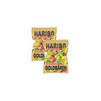 Haribo mini goud beer, in doos 4001686302392