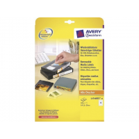 Avery *video etiket Avery 147,3x20 wit NP doos 25 vel 13 et. per vel 4004182047460
