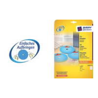 AVERY Zweckform CD labels Supersize, wit, mat 4004182289310