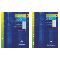 Clairefontaine Feuillets mobile, 170 x 220 mm, Seyes, bleu 3329680134100