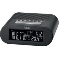 AEG FM-radio Clock Radio MRC 4145 F, zwart LED-display 4015067006328