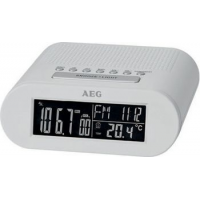 AEG FM-radio Clock Radio MRC 4145 F, LED-display, wit 4015067006458