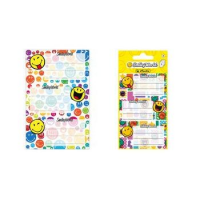 "Herlitz boek etiketten Smileyworld ""Rainbow"", 80 x 42 mm 4008110536910"