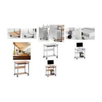 Durable PC-werkstation SYSTEM Computer Trolley 75 FH 4005546301761