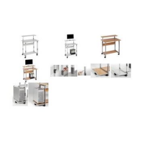 Durable PC-werkstation SYSTEM Computer Trolley 80 VH 4005546301785