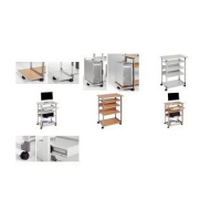 Durable PC-werkstation SYSTEM Computer Trolley 75 VH 4005546301815
