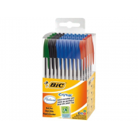 50 Bic Cristal assorti in drum
