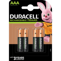 Duracell Rechargeable Plus Aaa Bl4, 5000394090231