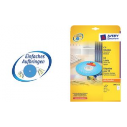 AVERY Zweckform CD labels Classic, wit 4004182060438