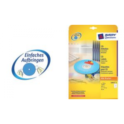 AVERY Zweckform CD labels Classic, wit 4004182060155