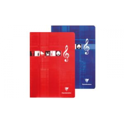 Cahier Clairefontaine kasboek Musique & Chant, A4, 48 pagina's 3329680311709