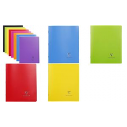 Cahier Clairefontaine Koverbook, 170 x 220 mm, Seyes, assorti 3037929514117