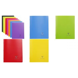 Cahier Clairefontaine Koverbook, 170 x 220 mm, Seyes, rouge 3037929514148